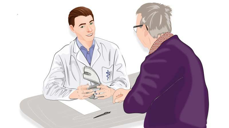 Arzt verschreibt Masalo Manschette MED gegen Tennisarm, Golferarm, Mausarm (Epicondylitis)