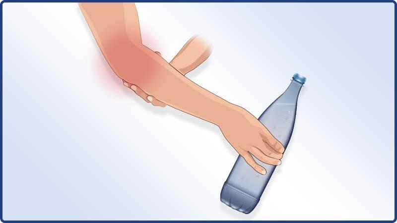 Funktionstest der Masalo Manschette mit einer PET Flasche